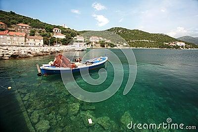 Boat in dalmatia