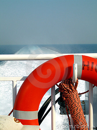 Free Boat Deck With Life Saver Royalty Free Stock Photo - 1584675