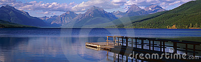 Boat dock at Lake McDonald