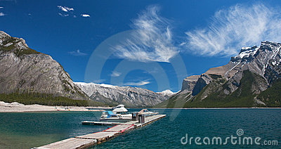 Boat Dock in Minnewanka lake