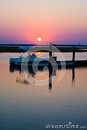 Boat Dock Sunset