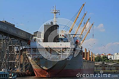 Boat in dockyard - landscape