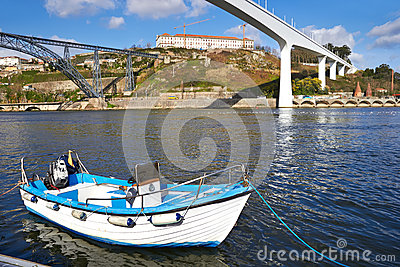 Boat on the Douro river