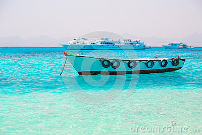 Boat on the Egyptian Red Sea