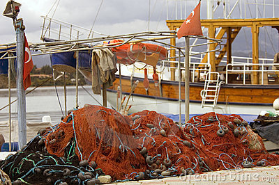 Boat and Fishing Nets