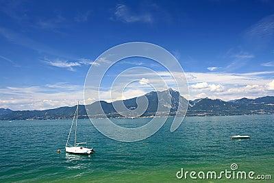 Boat on Garda Lake