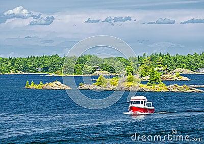 Boat on Georgian Bay