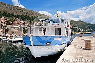 Boat in habour in Dubrovnik