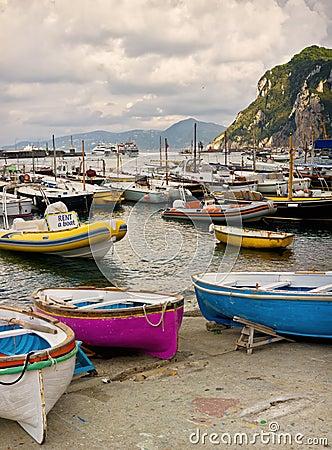 Boat Harbor, Capri Town, Italy