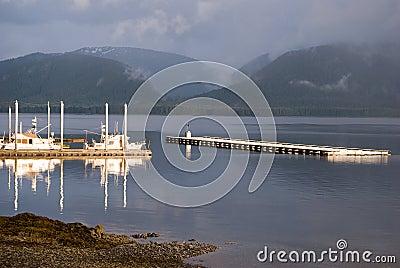 Boat Harbor in Tenakee Alaska