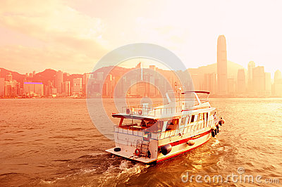 Boat and Hong Kong