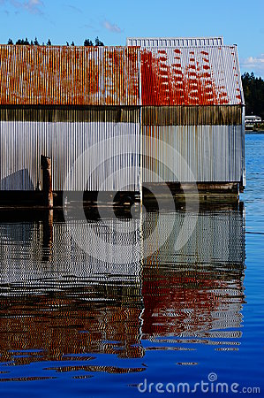 Free Boat House Reflections Stock Image - 45736131