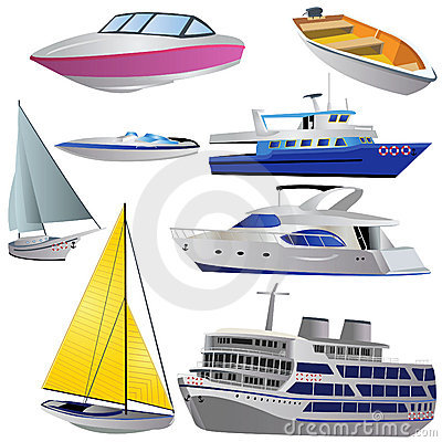 Boat icon set