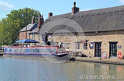 The Boat Inn at Stoke Bruerne.