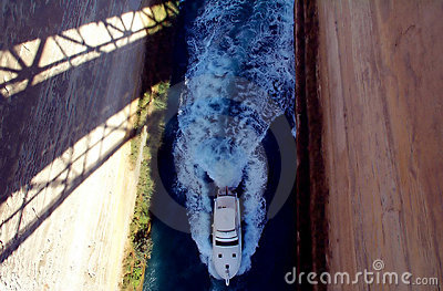 Boat in isthmus Stock Photo