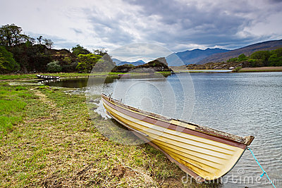 Boat at the Killarney lake