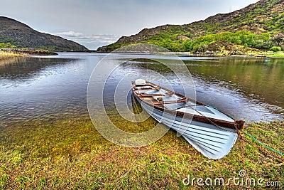 Boat at the Killarney lake