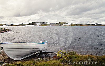 Boat on a Lake in Norway