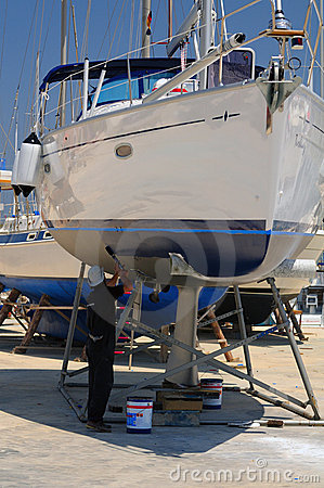 Boat in maintenance