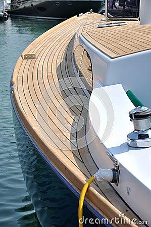 Boat maintenance in harbor
