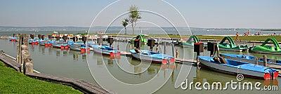 Boat and marine panorama