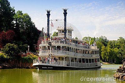 Boat on the Mississippi - Disneyland Paris Editorial Image