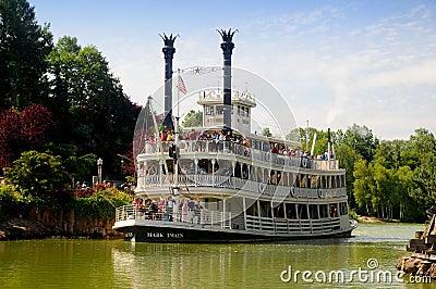 Boat on the Mississippi - Disneyland Paris Editorial Image