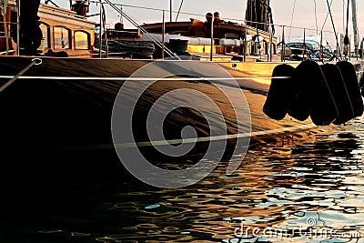Boat at moorings