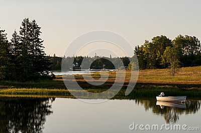 Boat in morning sunlight