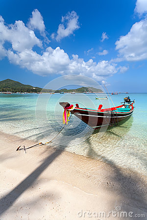 Free Boat Palm Tree Shadow Water. Royalty Free Stock Image - 43472466