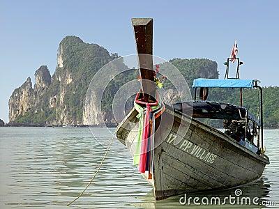Boat at Phi Phi beach