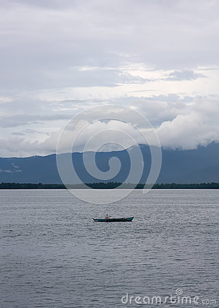 Boat at philippines sea