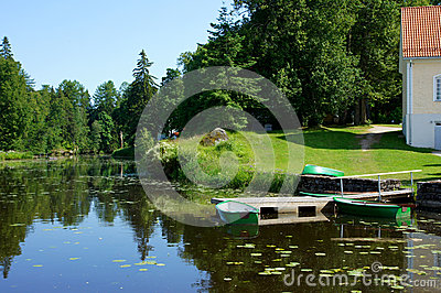 Boat and pond