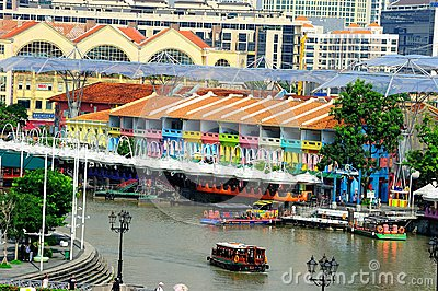 Boat Quay Editorial Image