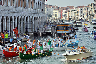Boat Race in Venice Editorial Photography