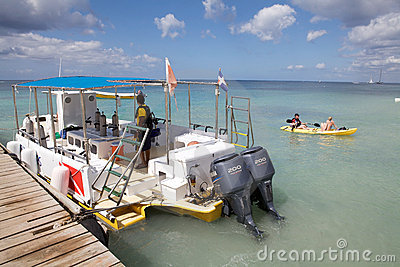 Boat for recreational diving Editorial Stock Image