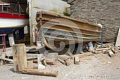 Boat restoration.