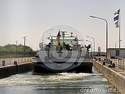 Boat on rhine