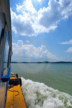 Boat ride to nearby tropical island