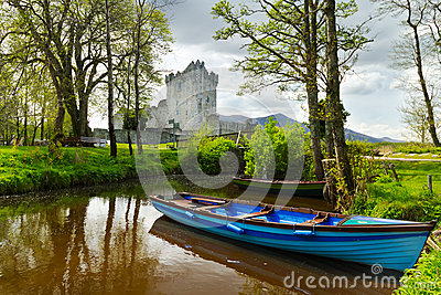 Boat at Ross Castle in Co. Kerry