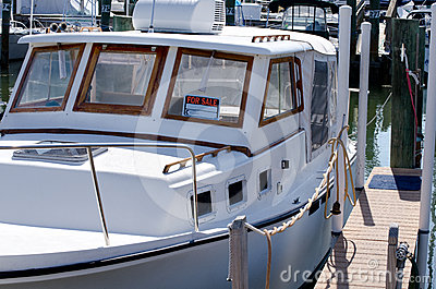 Boat for sale at marina