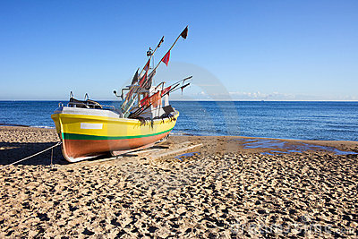 Boat on a Sandy Beach