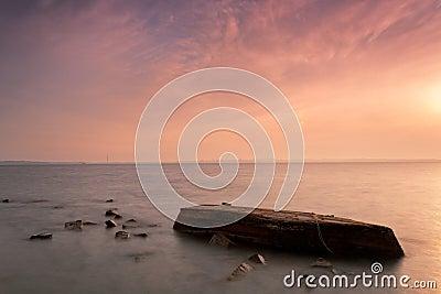 The boat sank