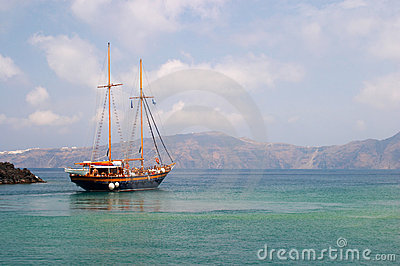 Boat Santorini Greece