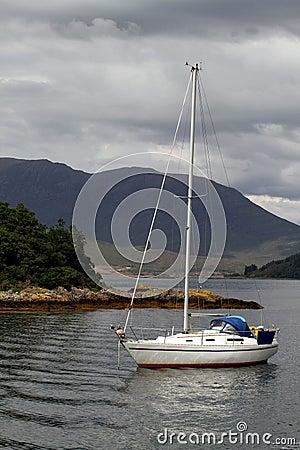 Boat on scottish lake