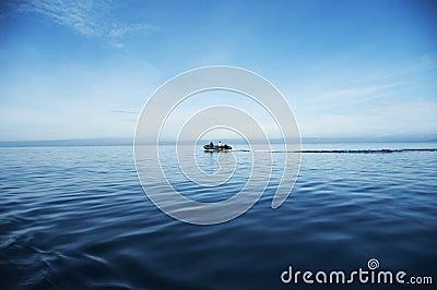 Boat at-sea