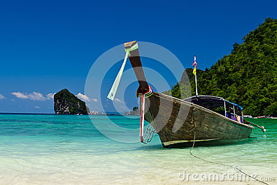 Boat on sea