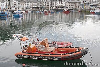Boat of sea rescue Editorial Image