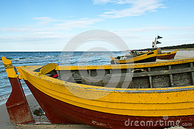 Boat on the shore.