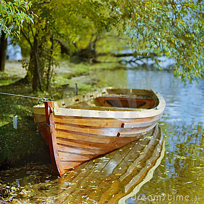 Boat at the shore of a river